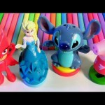 Disney PJ Masks Play-Doh Stampers Peppa Pig Stitch Disney Princess Elsa Frozen Clay Sticks