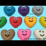 Play & Learn Colors with Play Doh Hearts and Hello Kitty Mickey Mouse Pooh Molds Fun for Kids Rhymes