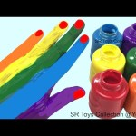 Hand Painting Learning Colours with Finger Family Nursery Rhymes Video for Kids
