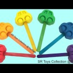 Learn Colours Play Doh Cars Lollipops Candy Hello Kitty Mickey Mouse Molds Fun and Creative for Kids
