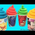 Learn Colors Play Doh Ice Cream Surprise Toys Finding Dory Pooh My Little Pony Hello Kitty Eggs