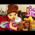 Baby Alive Doll Plays WILL IT SMOOTHIE & Makes Gross Kitchen Smoothie Bottle by DisneyCarToys