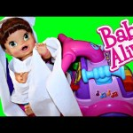 BABY ALIVE Goes Crazy & Destroys House! Toilet Paper Trouble & Sink Bath by DisneyCarToys
