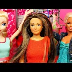 Barbie & Disney Princess Frozen Elsa Makeover at the Mall with The New Lammily Doll by DisneyCarToys