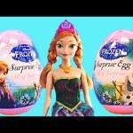 2015 Frozen Disney Eggs 6 New Princess Surprise Egg Toys Barbie Doll Anna Princesa Huevos Sorpresa
