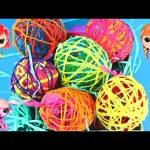 How To Make Yarn Balloon Surprise Eggs DIY Toy Eggs Frozen Little Mermaid Barbie Shopkins DCTC
