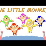 Five Little Monkeys | Rhymes | Videos From Kids TV