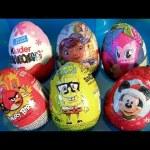 PJ Masks Toys M&Ms Surprise Kinder Eggs SpongeBob, Doc McStuffins, MLP Pinkie Pie Funtoyscollector
