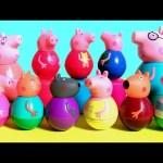 Peppa Pig Weebles Wobble Toys Surprise Pirate George Pig, Beach Pool Party Peppa, Disney Princess