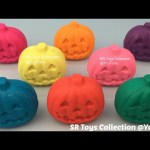 Glitter Play Doh Halloween Pumpkins with PJ Masks Molds Fun and Creative for Kids