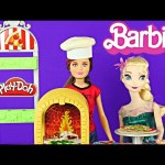 New BARBIE Sisters Pizzeria Frozen Fever Elsa Play Doh Pizza Life In The Dreamhouse Playset