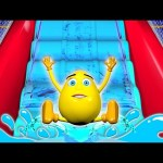 Water Slide Finger Family 3D – Surprise Eggs Learn Colors Balls Magic Indoor Playground Tunnel
