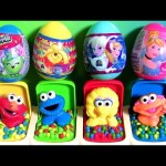 Learn Colors Baby Sesame Street Pop-Up Pals Toys Surprise Eggs Shopkins Pooh Anna Elsa Cinderella
