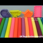 Play Dough Modelling Clay with Ice Cream Biscuit Cup and Teapot Molds Fun Creative for Kids
