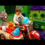 Play time for kids. Tom and Jerry motorcyle. Funny video from KIDS TOYS CHANNEL