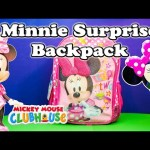 MINNIE MOUSE Disney  Surprise Backpack Candy and Toys Surprise Video