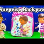 DOC MCSTUFFINS Disney Doc McStuffins Surprise Backpack Toys Video