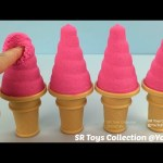 How to Make Kinetic Sand Soft Serve Ice Cream with Molds Fun and Creative for Kids