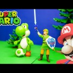 SUPER MARIO Legend of Zelda Link and Mario Kart Yoshi Super mario Video Toy Review