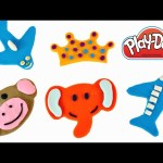 How To Make Play Doh Animals and Shapes ★ Childrens Educational Videos DCTC