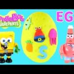 GIANT Spongebob Squarepants Egg Surprise ★ Play Doh Megabloks Lego Toys Huevo Sorpresa