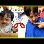 BABY'S FIRST HAIRCUT flashback+ Kid Haircut Toys Trains Firetruck Ride On Car for Kids Video