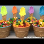 Ice Cream Cups Jelly Beans Surprise Eggs Zootopia Finding Dory Disney Princess Shopkins TMNT Toys