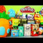 Play Doh Surprise Eggs Spongebob Squarepants Toys Kinder Joy DCTC Playdough Videos