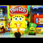 Play Doh Spongebob Squarepants NEW Toys Mini Playsets Surprise Egg DCTC Playdough Videos