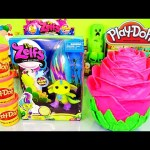 Giant Play Doh Rose Surprise Egg Toys The Zelfs Deeno Doll Toy DCTC Playdough Videos Creations