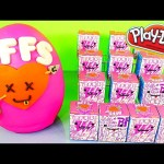 Play Doh Giant Surprise Egg Videos BFFS Kidrobot Blind Boxes DCTC Playdough Disney Cars Toy Club