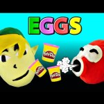 Giant Surprise Eggs Zelda Play Doh Huevos Sorpresa Plastilina Toy Fill Playdough Egg Tutorial DCTC