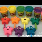 Glitter Play Dough Lollipops Smiley Stars with Teddy Bear and Flower Molds Fun Creative for Kids