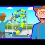 The Theme Park Song by Blippi | Amusement Park for Children