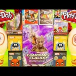 Play Doh Surprise Eggs Marvel Superheroes Blind Box Opening Spiderman Captain America Toys DCTC