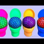 Squishy Balls Slime Toilet Surprise Toys for Kids Best Learning Colors Video Surprise Toys Nursery