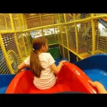 Indoor playground family fun for kids with slides. Video 2017.