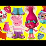 Peppa Pig and Trolls Poppy Play Dress Up and L.O.L. Doll Surprises