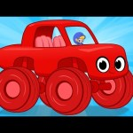 My Magic Giant Car Morphle! Monster Trucks, Cars, Police Cars and Fire Trucks all turn GIANT!!