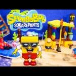 Spongbob Mega Blocks Beach Set a Toy Unboxing