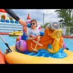 Indoor and Outdoor playground for kids. Funny video from KIDS TOYS CHANNEL