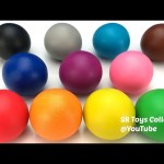 Learn Colors Play Doh Balls Farm Animals Duck Cow Sheep Horse Dog Rooster Pig Molds Fun for Kids