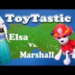 TOYTASTIC  Frozen Elsa Plays Paw Patrol Marshall in a Toy Game Show
