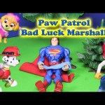Paw Patrol Marshall thinks that he is Bad Luck a Funny Toy Parody