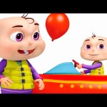 Five Little Babies Playing In Water Park | Learn Colors For Children | Original Learning Songs