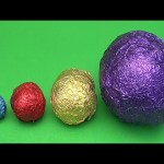 Learn Sizes with Surprise Eggs! Opening HUGE Colourful Chocolate Mystery Surprise Eggs! 37