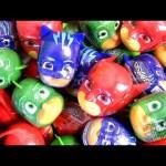 Surprise egg PJ Masks Heads Play Doh Lollipop and Ice Cream surprise