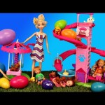 Barbie Playground Surprise Eggs Opening Toys at a Puppy Park Kids Toys