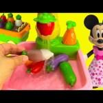Genie Teaches Minnie Mouse with Vegetables Gardening, Kitchen Sink, Cooking