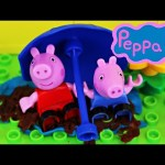Peppa Pig Mega Blocks Doll House Where George Jumps In Muddy Puddles Kids Toys